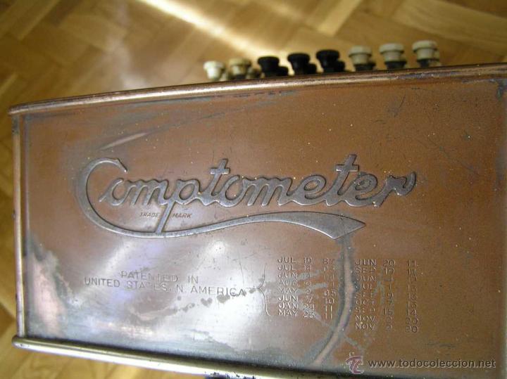Antigüedades: ANTIGUA CALCULADORA COMPTOMETER FELT & TARRANT MFG. CO CHICAGO DE LOS AÑOS 20 COMPTOMETRO CALCULATOR - Foto 32 - 42802627