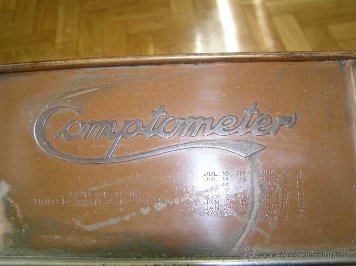Antigüedades: ANTIGUA CALCULADORA COMPTOMETER FELT & TARRANT MFG. CO CHICAGO DE LOS AÑOS 20 COMPTOMETRO CALCULATOR - Foto 33 - 42802627