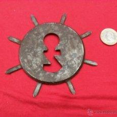 Antigüedades: ANTIGUO BOCALLAVES,HIERRO,FORJA. Lote 42803881