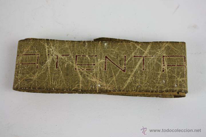 CINTA METRICA EN TELA. R. GONZALEZ S. XIX (Antigüedades - Técnicas - Aparatos de Cálculo - Reglas de Cálculo Antiguas)