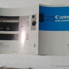 Antigüedades: ANTIGUO CATALOGO TOMAVISTAS CANON CINE CANONET AÑOS 70. Lote 42879848