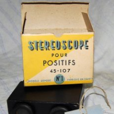 Antigüedades: VISOR DE POSTALES STEREOSCOPE POSITIFS - 372. Lote 42964977