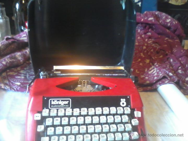 MAQUINA DE ESCRIBIR KONIGER EUROGRAPHIC (Antigüedades - Técnicas - Máquinas de Escribir Antiguas - Otras)
