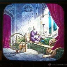 Antiguidades: CRISTAL LINTERNA MAGICA MASONICA CABALLEROS DE PYTHIAS 1890 PRECINE MASONERIA MASONICO. Lote 43024306