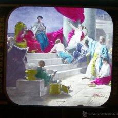 Antigüedades: LOTE 3 CRISTALES LINTERNA MAGICA MASONICA 1890 PRECINE MASONERIA MASONICO. Lote 43024569