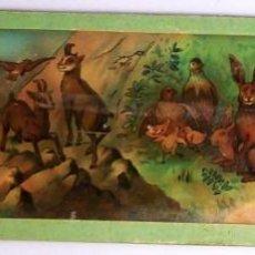Oggetti Antichi: CRISTAL LINTERNA MAGICA GRANDE ESCENA CAZA 1890 PRECINE. Lote 43025196