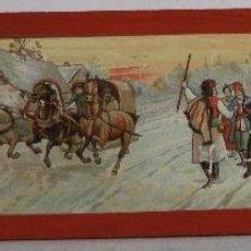 Antigüedades: PLACA DE VIDRIO / DIAPOSITIVA PARA LINTERNA MAGICA (18X5CM APROX). Lote 43038515