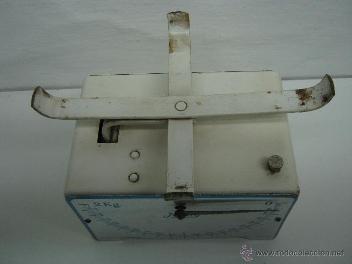 Antigüedades: Vintage fabricado en españa - bascula o balanza Jenny 2 Kg. - Chapa metal - Foto 2 - 43040242