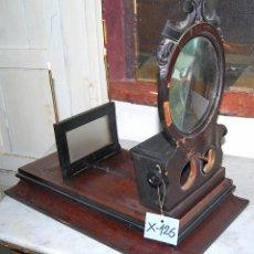 Antigüedades: VISOR ESTEREOSCÓPICO DE SOBREMESA EN MADERA - 126. Lote 43042110