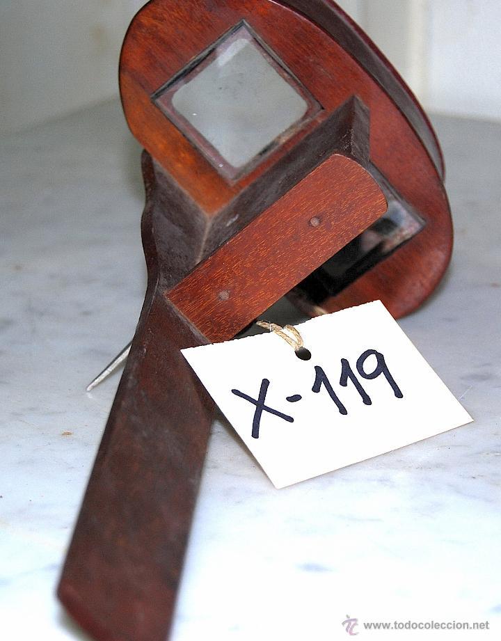 VISOR ESTEREOSCOPIO EN MADERA - 119 (Antigüedades - Técnicas - Aparatos de Cine Antiguo - Visores Estereoscópicos Antiguos)