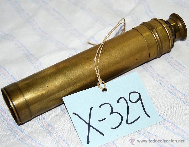 CATALEJO ANTIGUO DE BRONCE DE CUATRO CUERPOS - 329 (Antigüedades - Técnicas - Instrumentos Ópticos - Catalejos Antiguos)