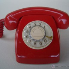 Teléfonos: TELÉFONO ANTIGUO ROJO AÑOS 70 MODELO HERALDO, 100% ORIGINAL. ADAPTADO A FIBRA ÓPTICA.. Lote 63826391
