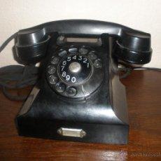 Teléfonos: TELEFONO ANTIGUO NEGRO. Lote 43075943
