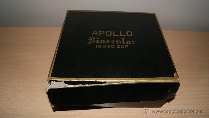 Antigüedades: Antiguo Binocular APOLLO 16x50 ZCF prismaticos nº4219 Japan 3,5º 61 m a 1000 m - Foto 4 - 43117498