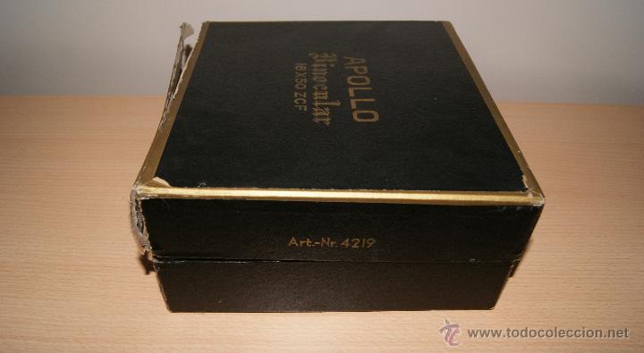 Antigüedades: Antiguo Binocular APOLLO 16x50 ZCF prismaticos nº4219 Japan 3,5º 61 m a 1000 m - Foto 5 - 43117498