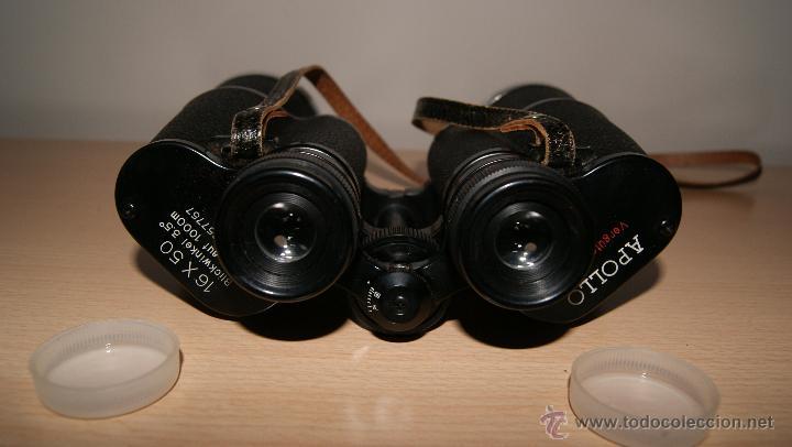 Antigüedades: Antiguo Binocular APOLLO 16x50 ZCF prismaticos nº4219 Japan 3,5º 61 m a 1000 m - Foto 17 - 43117498