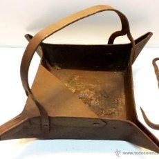 Antigüedades: ANTIGUO RECIPIENTE METALURGIA DE FORJA PARA FUNDIR METALES Y VERTERLOS EN MOLDES.+OBSEQUIO GANCHO.. Lote 43216075