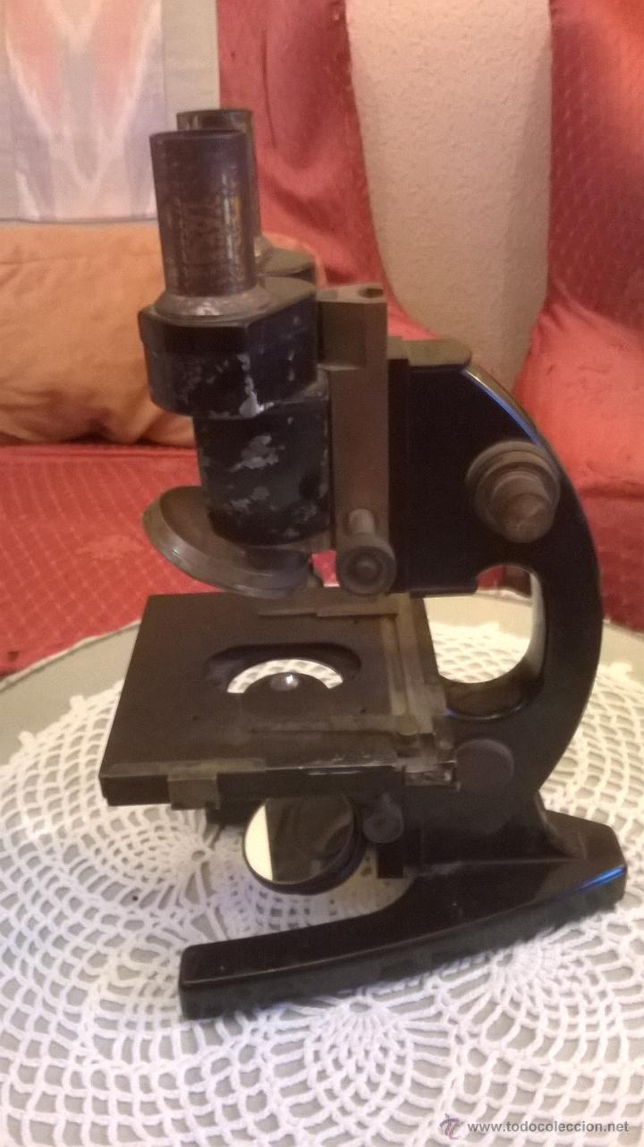 Antigüedades: Microscopio antiguo S. XIX alemán Carl Zeiss- con lentes objetivos valorados en más´de 430 euros - Foto 2 - 43216798