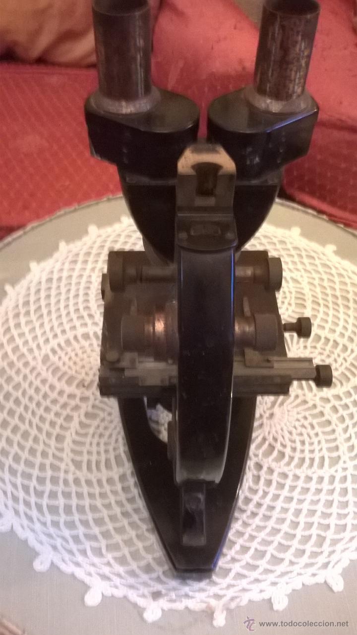 Antigüedades: Microscopio antiguo S. XIX alemán Carl Zeiss- con lentes objetivos valorados en más´de 430 euros - Foto 3 - 43216798