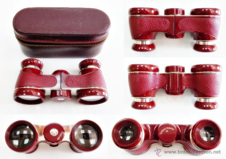 ANTIGUOS PRISMÁTICOS BINOCULARES GEMELOS DE ÓPERA ALEMANES OPTIKER RUHNKE 2,5X (Antigüedades - Técnicas - Instrumentos Ópticos - Binoculares Antiguos)