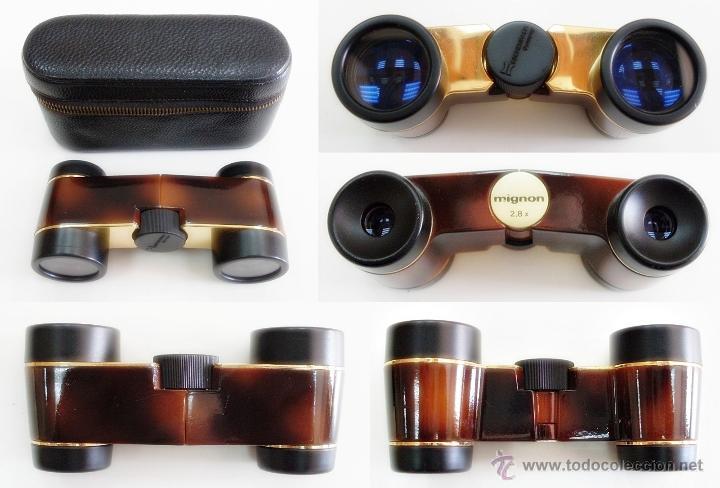 ANTIGUOS PRISMÁTICOS BINOCULARES GEMELOS DE ÓPERA ALEMANES ESCHENBACH MIGNON 2.8X EXCELENTES (Antigüedades - Técnicas - Instrumentos Ópticos - Binoculares Antiguos)