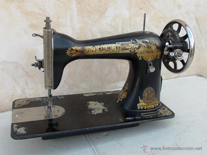 Antigüedades: maquina de coser singer antigua, funcionando - Foto 2 - 43264847