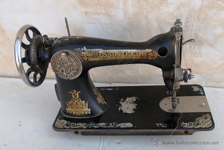 Antigüedades: maquina de coser singer antigua, funcionando - Foto 5 - 43264847