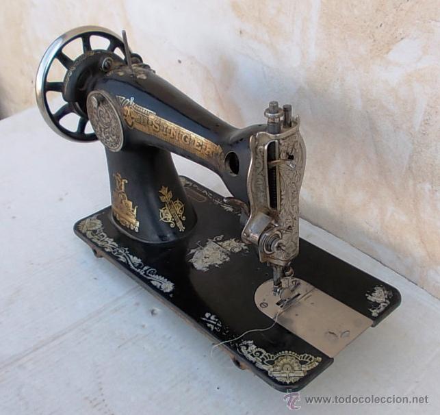 Antigüedades: maquina de coser singer antigua, funcionando - Foto 6 - 43264847