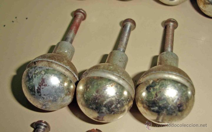 Antigüedades: pomos tiradores de metal. 16 unidades - Foto 2 - 43385758