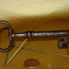 Antigüedades: LLAVE DE HIERRO FORJA. SIGLO XIX. 11,5 CM LARGO.. Lote 43482065