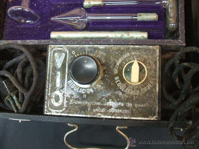 Antigüedades: ANTIGUO MALETIN PORTATIL DE ELECTROTERAPIA - ¿AÑOS 20-30? - Foto 3 - 43541380