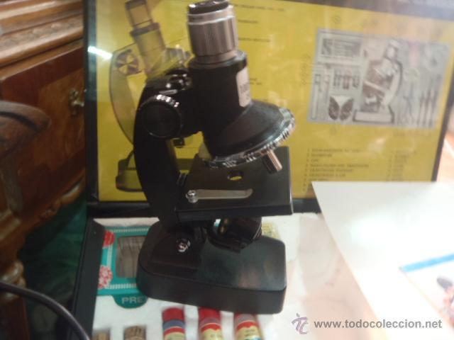 Antigüedades: SET MICROSCOPIO ZEUS 100 X -900X ZOOM CON LUZ, 3 LENTES. - Foto 6 - 43544575