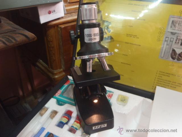 Antigüedades: SET MICROSCOPIO ZEUS 100 X -900X ZOOM CON LUZ, 3 LENTES. - Foto 7 - 43544575