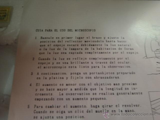 Antigüedades: SET MICROSCOPIO ZEUS 100 X -900X ZOOM CON LUZ, 3 LENTES. - Foto 8 - 43544575