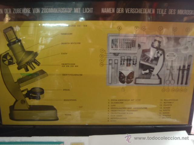 Antigüedades: SET MICROSCOPIO ZEUS 100 X -900X ZOOM CON LUZ, 3 LENTES. - Foto 9 - 43544575