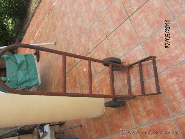 Antigüedades: ANTIGUA CARRETILLA AÑOS 50 DE HIERRO - Foto 2 - 43548249