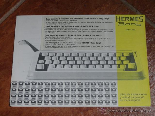 FOLLETO PUBLICIDAD MAQUINA DE ESCRIBIR HERMES BABY (Antigüedades - Técnicas - Máquinas de Escribir Antiguas - Otras)