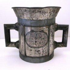 Antigüedades: ANTIGUA MEDIDA DE MEDIO DECALITRO. J MARESMA BARCELONA. Lote 43576609