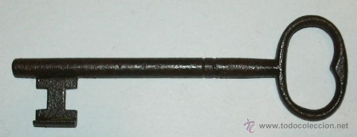 LLAVE ANTIGUA DE HIERRO (Antigüedades - Técnicas - Cerrajería y Forja - Llaves Antiguas)