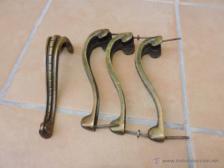 Cuatro tiradores de bronce pomos de puerta comprar - Pomos puertas interior ...