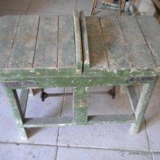 Antigüedades: BASCULA BALANZA DE MADERA ANTIGUA ,PARA PESAR CAJAS DE UVA U OTROS. Lote 43658059