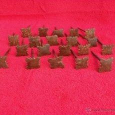 Antigüedades: LOTE 20 CLAVOS ANTIGUOS FORJA,HIERRO,LIMPIOS,SIGLO XVII-XVIII. Lote 43664470