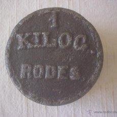 Oggetti Antichi: PESA 1 KG - 1000 GR - RODES. Lote 43690748