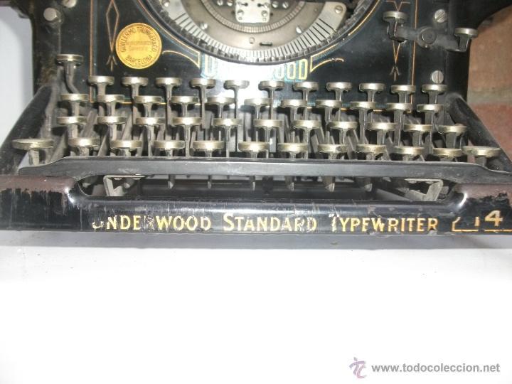 Antigüedades: Antigua maquina de escribir underwood. teclado español. Carro grande Barcelona Guillermo Truniger tz - Foto 2 - 43739096