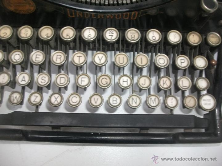 Antigüedades: Antigua maquina de escribir underwood. teclado español. Carro grande Barcelona Guillermo Truniger tz - Foto 3 - 43739096