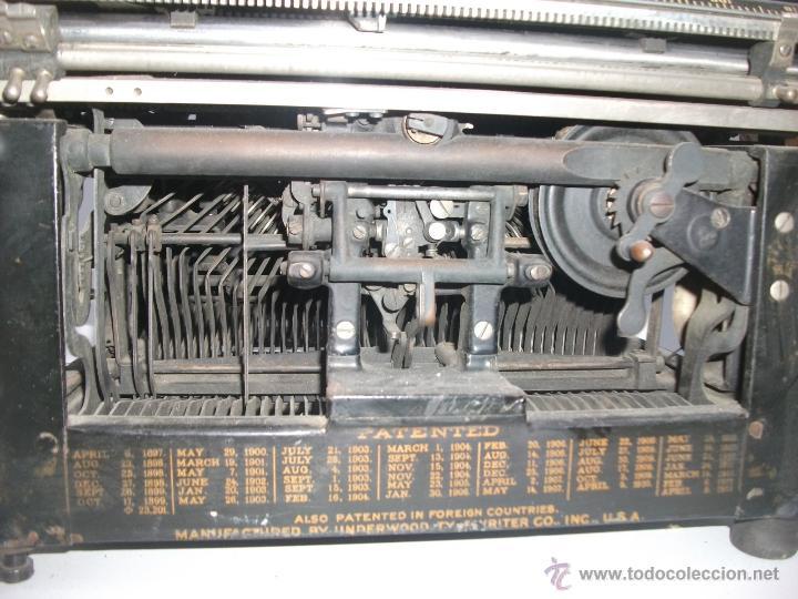 Antigüedades: Antigua maquina de escribir underwood. teclado español. Carro grande Barcelona Guillermo Truniger tz - Foto 7 - 43739096