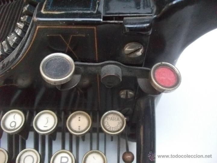 Antigüedades: Antigua maquina de escribir underwood. teclado español. Carro grande Barcelona Guillermo Truniger tz - Foto 12 - 43739096
