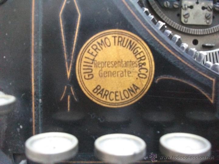 Antigüedades: Antigua maquina de escribir underwood. teclado español. Carro grande Barcelona Guillermo Truniger tz - Foto 13 - 43739096