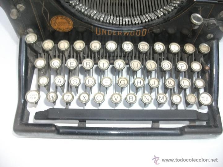 Antigüedades: Antigua maquina de escribir underwood. teclado español. Carro grande Barcelona Guillermo Truniger tz - Foto 14 - 43739096