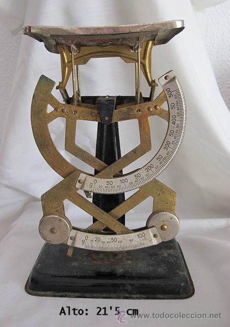 ANTIGUA BALANZA PESACARTAS DE CORREOS MYC (Antigüedades - Técnicas - Medidas de Peso - Balanzas Antiguas)